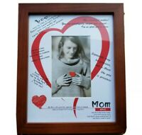 RPJC Mother's Day Picture frame Mom Gift Fits 8x10 4x6 Photo Wood Tone. C
