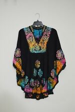 Ladies embroidered multicolor poncho/Beachwear/Summer/One Size fits all