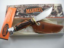 MARBLES WOODCRAFT / JIGGED BONE KNIFE NEVER USED IN BOX