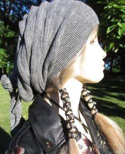 SKULL Leather Hair Wrap Ties Ponytail Holders Beaded Biker Clothing Accessories