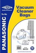 10 x PANASONIC Vacuum Cleaner Bags C-20E Type - MC-CG663, MC-CG675, MC-CG677