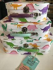 Sass & Belle Roarsome Dinosaur Suitcase Trio Damaged