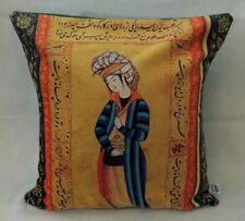 Persian Miniature Calligraphy Art Poem Sonnati Cushion Cover Pillow Case Nowrooz