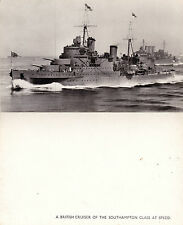 BATTLE CRUISER OF THE SOUTHAMPTON CLASS UNUSED PHOTOGRAPH POSTCARD