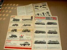 Lot 2 Prospectus Train FLEISCHMANN 1976 & 74  HO & Piccolo  brochure