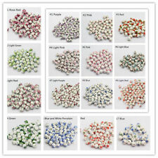 10pc New Ceramic Porcelain Flower Round Loose Beads Jewelry Making 8/10/12mm#G