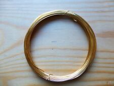 24K GOLD PLATED WIRE FOR VIOLIN/CELLO BOWS, CRAFTS OR JEWELRY, 0.4 GAUGE!