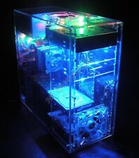 DIY Personalized Transparent Acrylic ATX Standard Computer Casefor MB Water