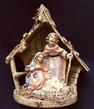 "Vintage Unmarked Depose Fontanini 5"" Small Nativity Holy Family- Italy 1458"