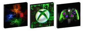 XBOX CANVAS WALL ART PLAQUES/PICTURES set of 3