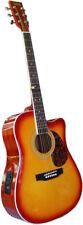 Axiom Steel String Guitar AF48CE Sunburst Dreadnought Guitar With Pickup