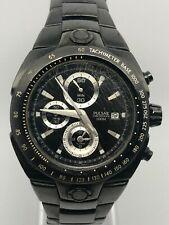 Pulsar by SEIKO Mens Black Chronograph Watch YM62-X197 Stainless Steel Bracelet