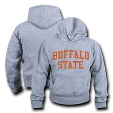 Buffalo State College Hoodie Sweatshirt Game Day Fleece Heather Grey