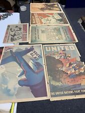 More details for ww2 propaganda posters  x 6 originals not reproduction rare items 80 years old