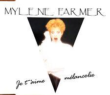 Mylène Farmer Maxi CD Je T'Aime Mélancolie - France (EX+/EX+)
