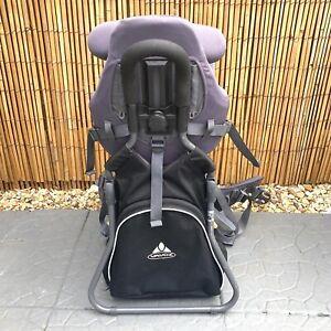 Vaude Sport D-88069 Backpack Baby Carrier Grey Adjustable USED PLEASE READ