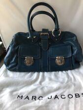 MARC JACOBS VENETIA Teal Blue Leather Satchel dust Bag purse authentic original