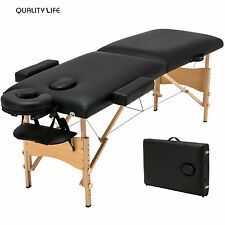 "84""L Fold Portable Massage Table Facial SPA Beauty Bed Tattoo w/Free Carry Case"