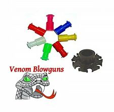 50 .40c Blowgun Stun Darts & 8 Point Dart Holder by Venom Blowguns® Made in Usa!