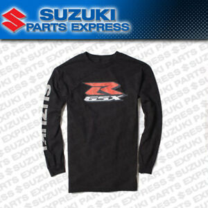 NEW GENUINE SUZUKI GSX-R BLACK LOGO LONG SLEEVE SHIRT 600 750 1000  990A0-16252
