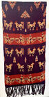 "Hand woven Sumba Ikat Animal Figures Runner 18"" x 70"" from Indonesia"