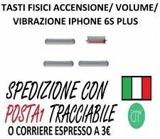 KIT TASTI FISICI VOLUME ACCENSIONE VIBRAZIONE PER IPHONE 6S PLUS NERO