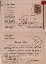 SERVIZIO DI STATO 2c su 0.05(30)-Cartolina stampata Firenze->Pianoro 24.7.1879