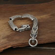 """Heavy Men's Solid 925 Sterling Silver Bracelet  Link Dragon Chain Jewelry 8.3"""""""