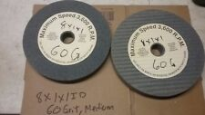 "8"" GRINDING WHEELS, 2 PCS. MEDIUM GRIT ALUM/OXIDE  8""X1""X1""ID"