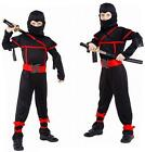 Stealth Ninja Child Kids Boys Fancy Dress Up Party Halloween Costume H