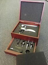 2 Tiers Wine Tool Rosewood Gift Box Tools Kit Case Premium Deluxe quality