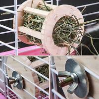 Kaninchen Hay Feeder Rack Holz Hay Manger Food Dispenser Für Meerschweinchen