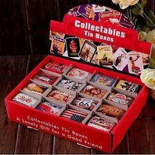 4 Pcs Vintage Style Tin Boxes Collectable Iron Pills Case Gift Candy Can TR0090