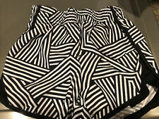 Athletic Works Girls Active Running Polyester Shorts Black White Sz L 10/12 Plus