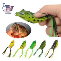 5x High Quality Fishing Lures Frog Topwater Crankbait Hooks Bass Bait Tackle NEW
