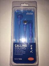 Miia Auricolari Stereo Microfono Apple Android Earphones Night Sea Cellulare