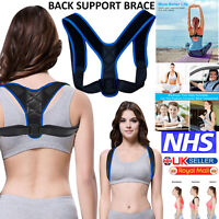 Adjustable Magnetic Posture Back Support Brace Corrector Clavicle Shoulder Belt