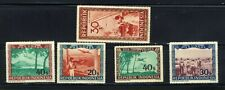 1948 Indonesia Airmail Plane 🛩️5 Stamps  MNH OG