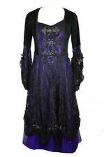 Dark Star Gothic Gown Dress~Purple/Black~Velvet/Lace/Net~Size 14