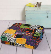 Mandala Patchwork Footstool Ottoman Bedroom Foot Rest Kid Seat Sofa Stool Square