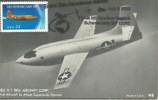 Bell X-1 first supersonic flight Aviation USA Souvenir card