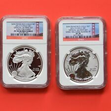 2012-S Silver Eagle 75 TH Anniversary Set NGC Early Releases PF70 Reverse PF 70