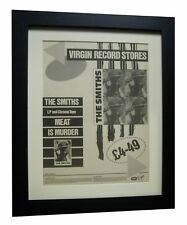 THE SMITHS+Meat Is Murder+POSTER+AD+RARE+ORIGINAL+1985+FRAMED+FAST GLOBAL SHIP