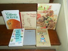 HUGE LOT OF 6 ETHNIC AMERICAN JEWISH COOK BOOKS KOSHER HOLIDAY PASSOVER RECIPES