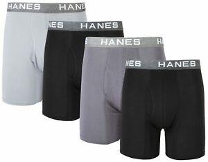 Hanes Mens 4-pk. Ultimate Comfort Flex Fit Boxer Briefs