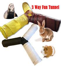 3 WAYS Foldable Pet Fun Tunnel Rabbit Ferret Guinea Pig Small Animal Play Toy