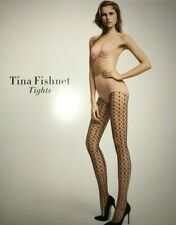 Wolford Tina Fishnet Tights Size: Small  Color: Deep Blue 19218 - 06