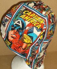 Captian America Handmade 100% cotton, Welding Biker,6 1/2 to 8,4 panel hat