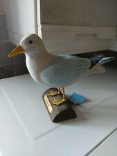 "Hand Carved Wooden Herring Gull  Garden Ornament Decoration Figure Seagull 6"""