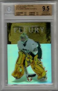 2003-04 Topps Pristine Marc-Andre Fleury Refractor Rookie Card /499  BGS 9.5